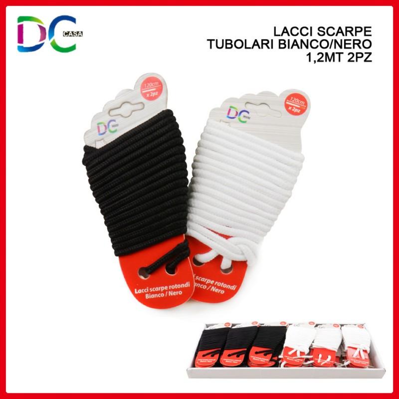 Lacci Scarpe Rotondi Bianco Nero 1 c5e06b2a855