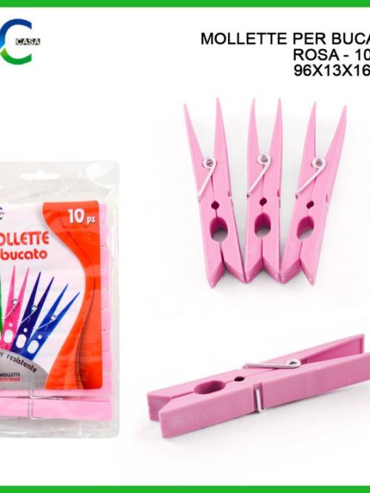 Mollette Per Bucato Rosa 96X13X16Mm Rosa