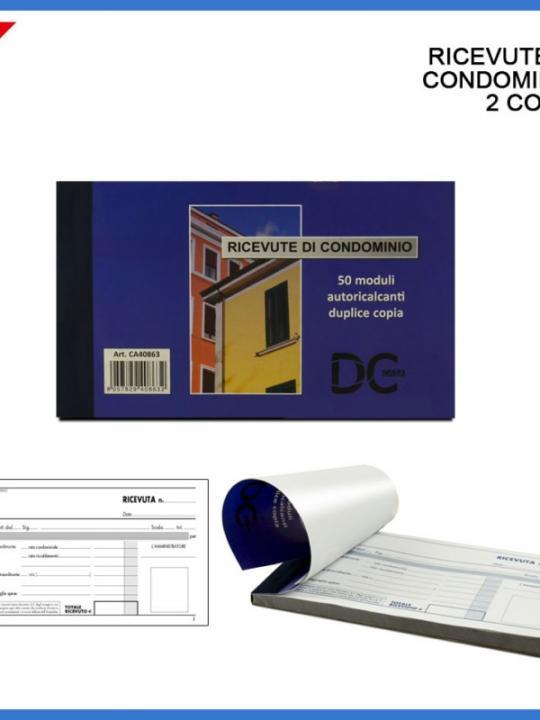 Ricevute Di Condominio 2 Copie 50/50 Fg