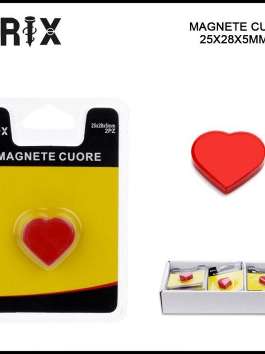 Magnete Cuore 25X28X5Mm 2Pz