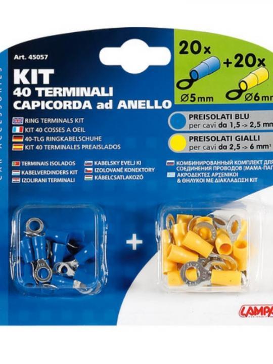 Kit 40 Capicor.Anello Blu/Gia