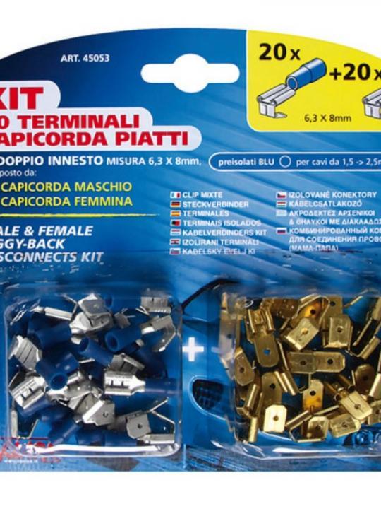 Kit 40 Capicor.Piat.Doppi Blu