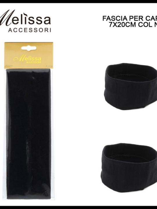 Fascia Per Capelli 7X20Cm Nera