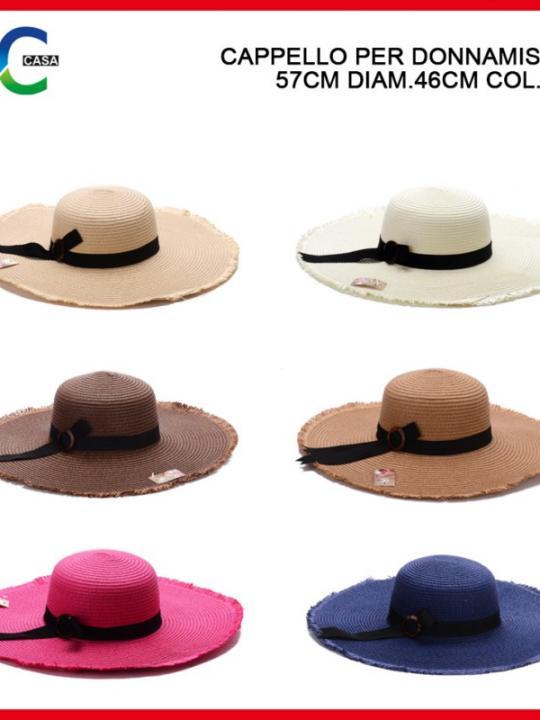 Cappello Per Donna Misura 57Cm D46Cm Ass