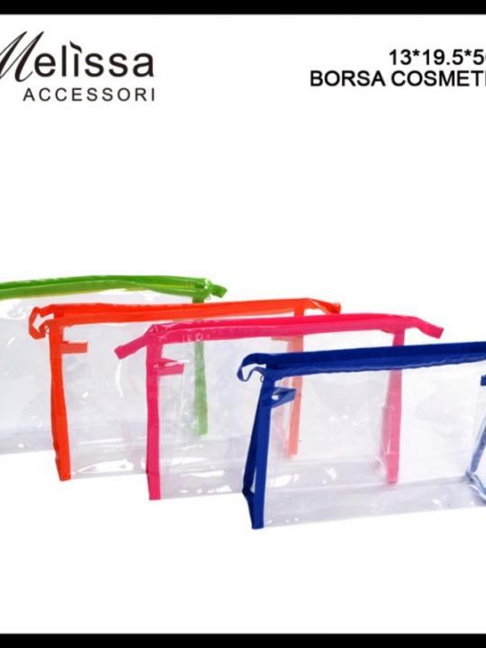 Borsa Cosmetica Trasp. 13X19.5X5Cm Ass