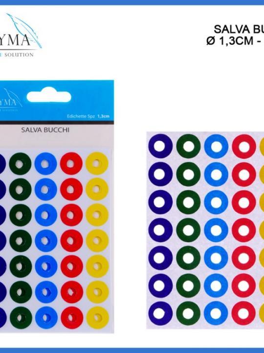 Salva Bucchi Colorati 1,3Cm 5Pz