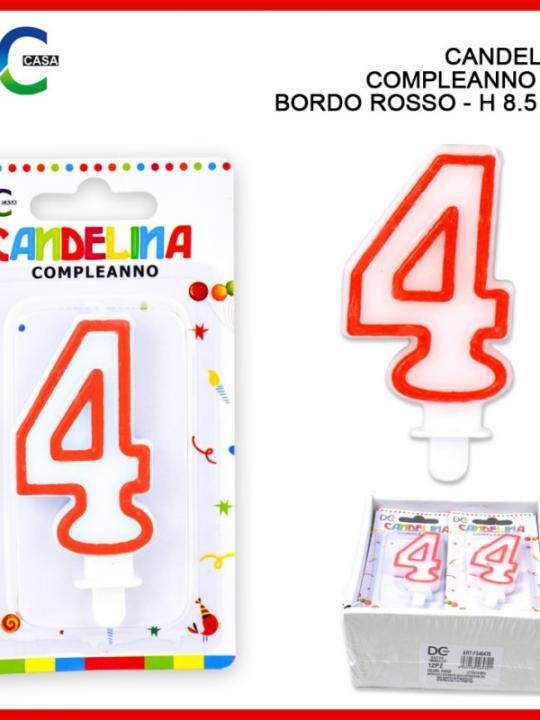Candelina Compleanno Numero 4 Bordo Ross