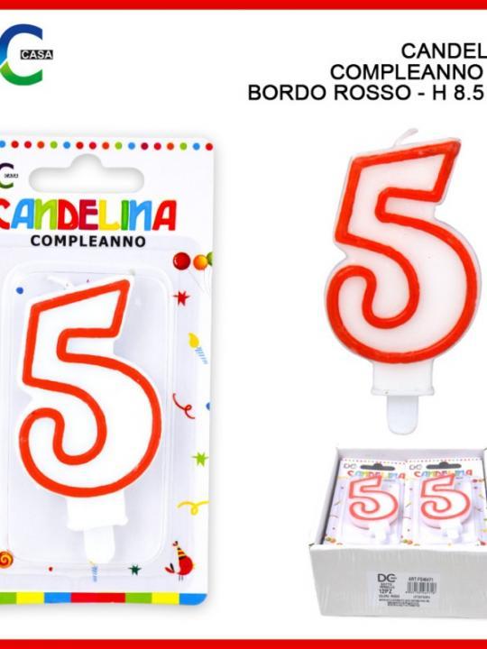 Candelina Compleanno Numero 5 Bordo Ross