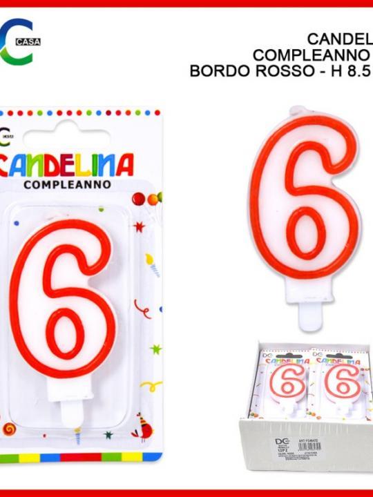 Candelina Compleanno Numero 6 Bordo Ross