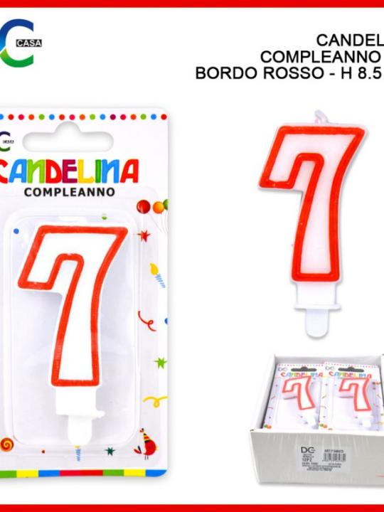 Candelina Compleanno Numero 7 Bordo Ross