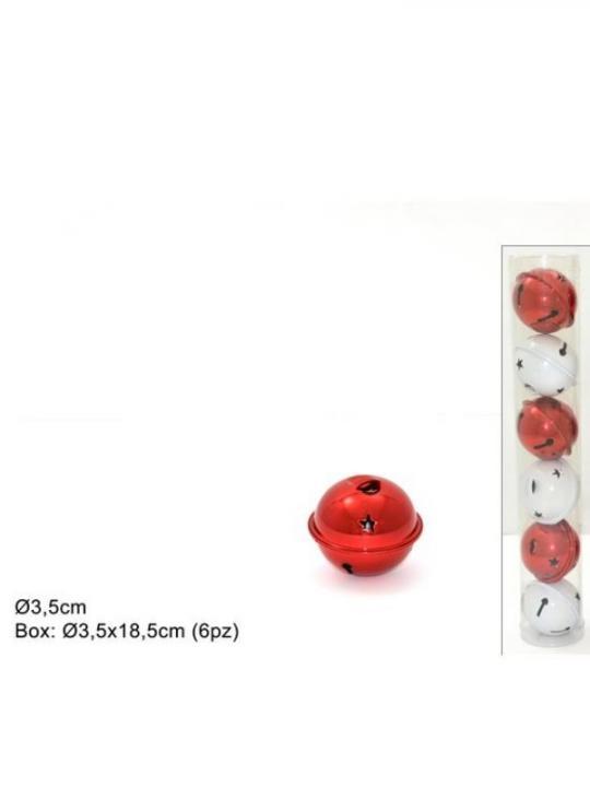 Campanellino Plastica Tubo 6Pz 3.5Cm 2 A