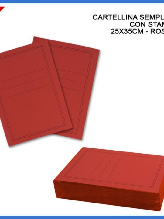 Cart.Manilla Semplice C/Stampa Rosso 35X