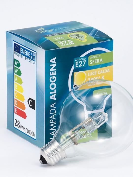 Lampada Alogena Sfera Lc E27 33W