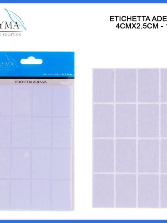 Etichetta Adesiva 4X2,5Cm 10Pz