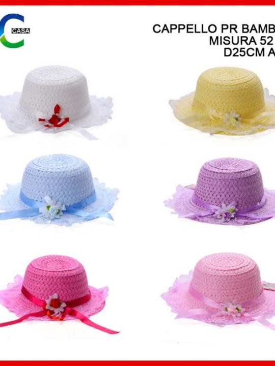 Cappello Per Bambina Misura 52Cm D28Cm A