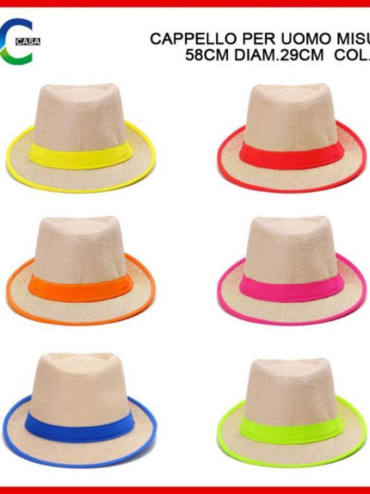 Cappello Per Uomo 58X29Cm Ass.