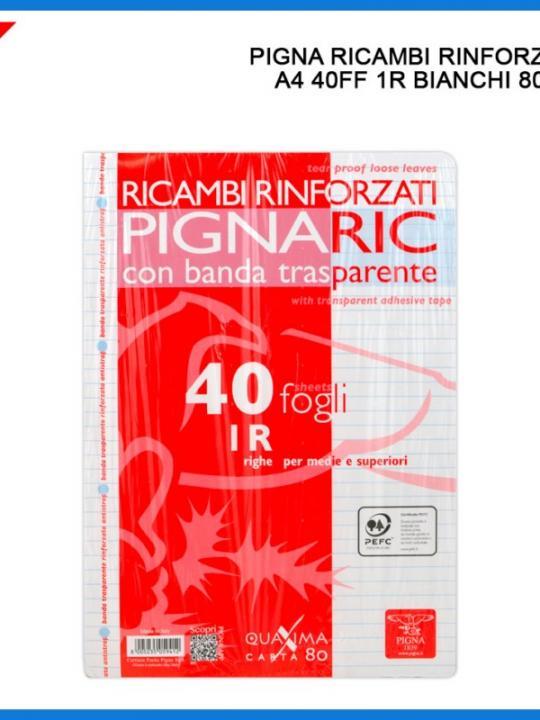Ricambi Rinforzati A4 40Ff 80G 1R Bianco