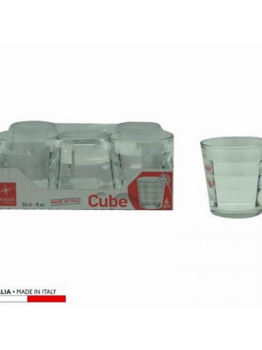 Bicchiere Cube Acqua 6Pz