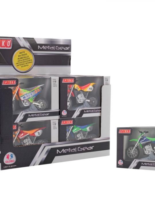 Motocross Die-Cast 1:18 12Pz D/B 3Mod