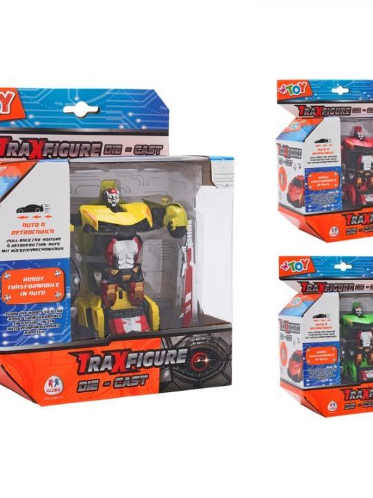 Traxfigure Die Cast Robot Auto 3 Col