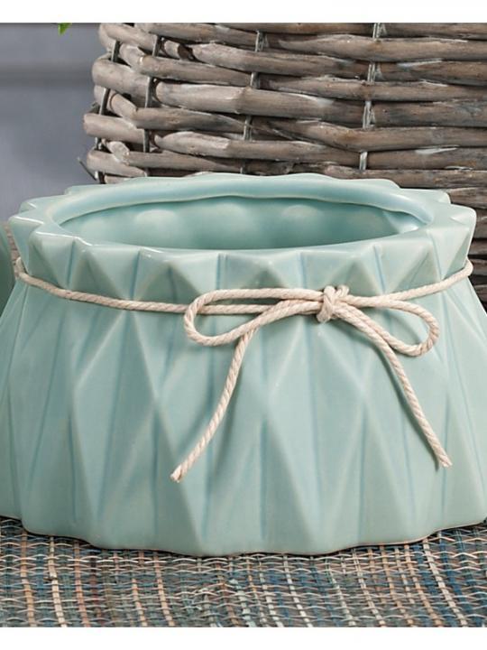 Vaso Ceramica Ass4Col Diam18Xh10