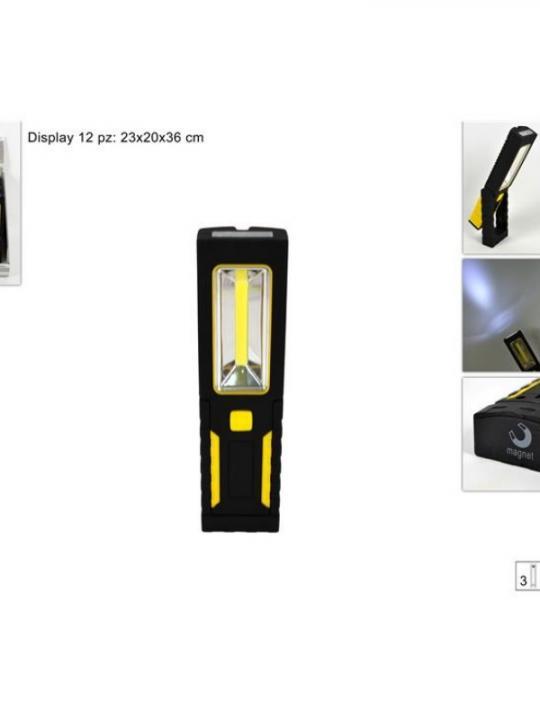 Torcia Led 4+Cob Batterie C/Magnette