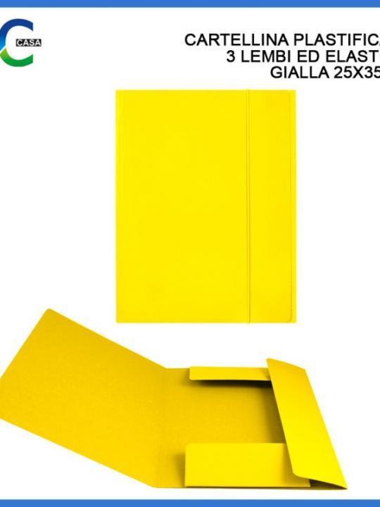 Cartellina C/Elast. 3/L 25X35Cm Giallo
