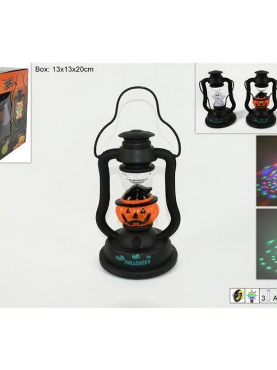 Lanterna Halloween C/Luci E Suoni Batt 3