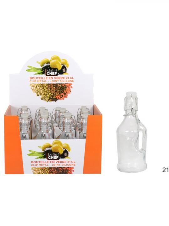 Bottiglia In Vetro/Manico 21Cl