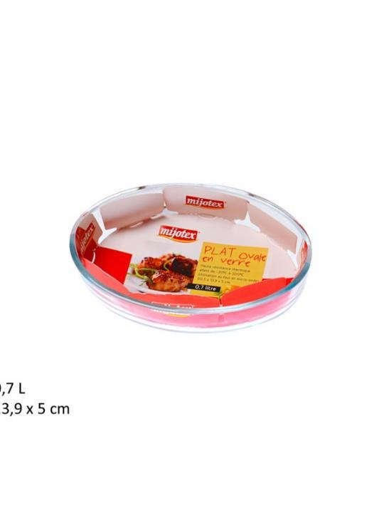 Piatto Ovale In Vetro 0.7L Pl13