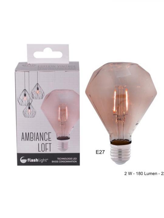 Ampoule Led Diamantambree E27 2W