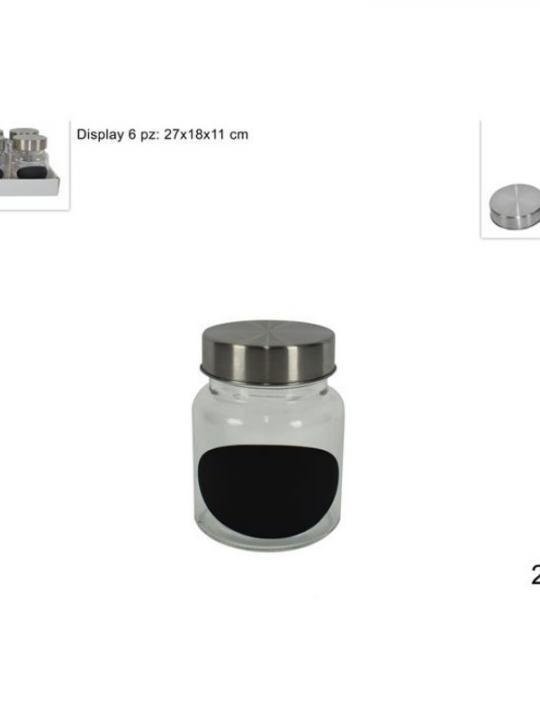Portaspezie Vetro C/Tappo Metallo 250Ml
