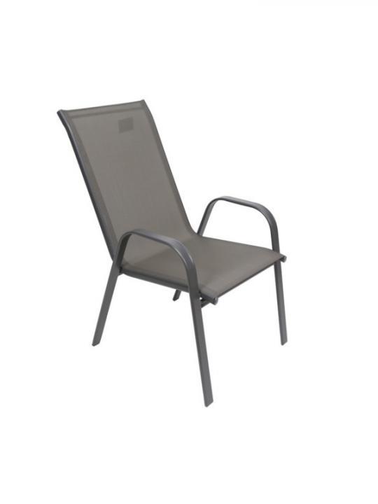 Sedia Metallo C/Tela Pvc Grigio