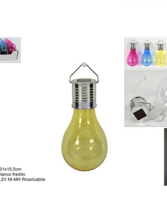 Lampadina Colorata C/Filo 4Led Solar