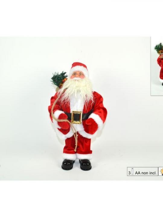 Babbo Natale 40Cm C/Movim Musica&Luci Di