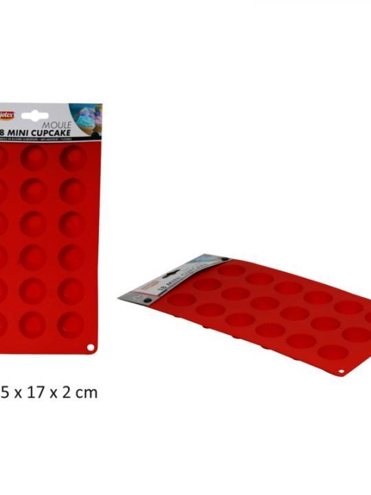 Stampo Per 12 Cupcakes In Silicone Rosso