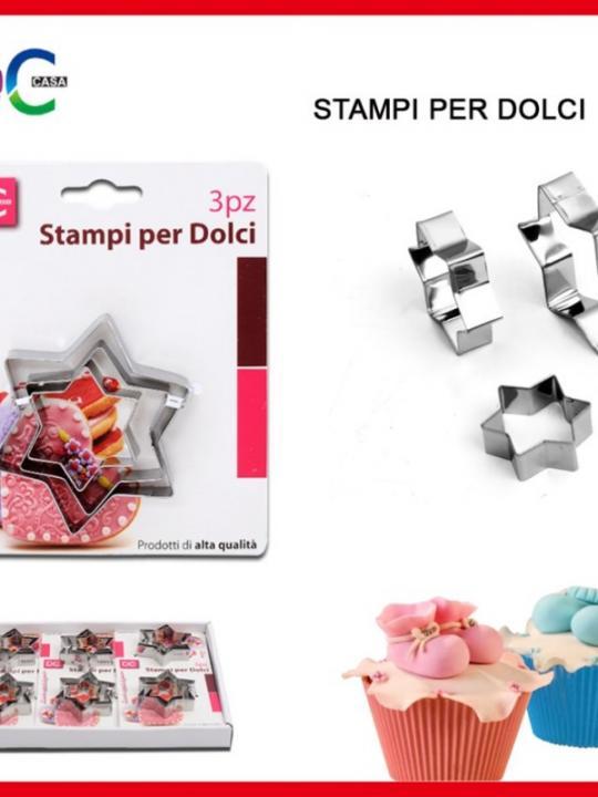 Stampi Per Dolci Stella Set 3Pz