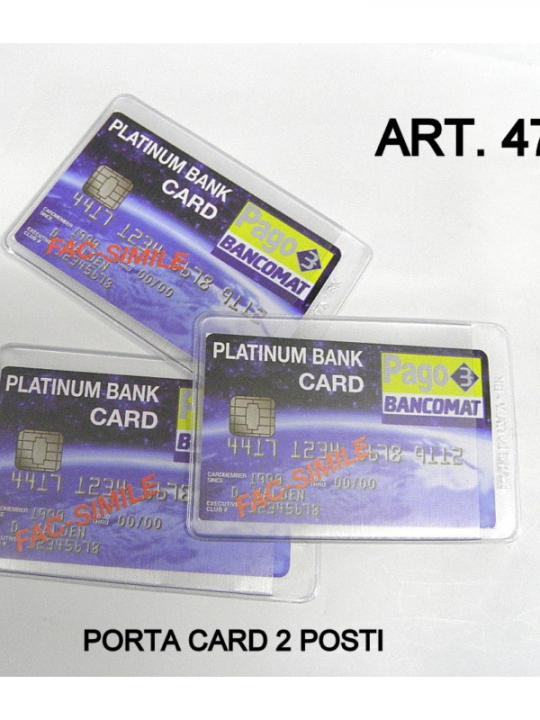 Custodia Porta Card 2Pz