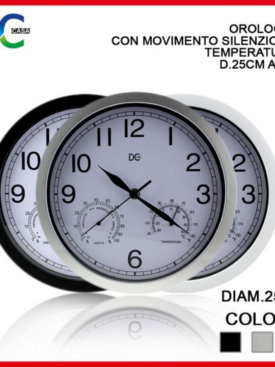 Orologio C/Mov, Sil. Temp D25