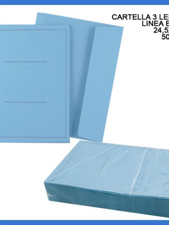 Cartelle 3 Lembi Eco Azzurre