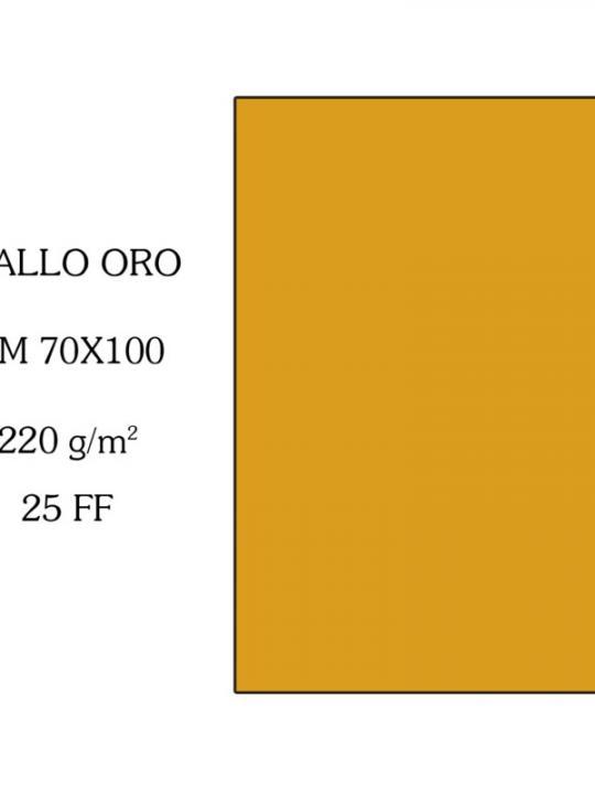 Cartoncino K70X100Cm Giallo Oro
