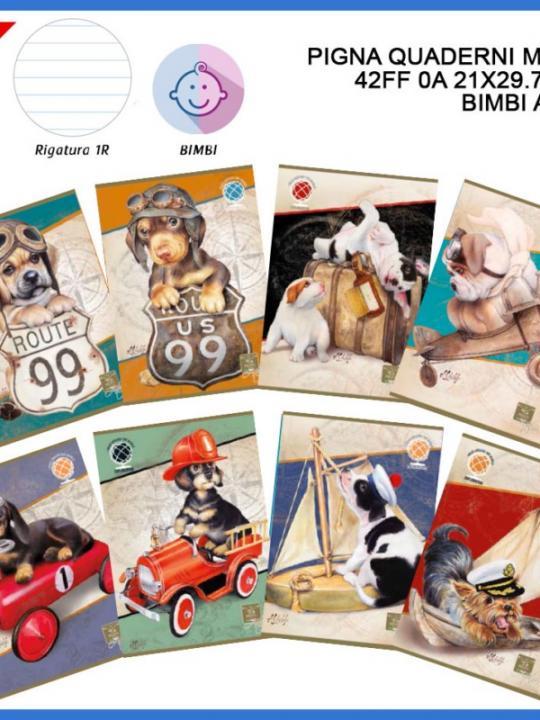 Quaderno Maxi Animali World 42Ff