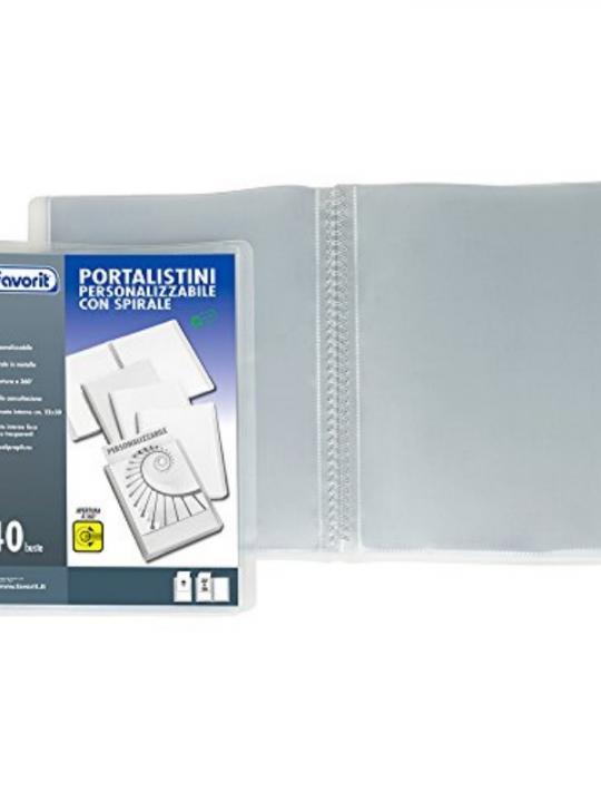 Portalistino Personalizzabile A4 40 Tasc