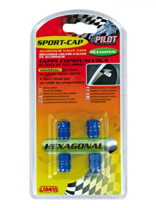 Sport-Cap Exagonal Blu
