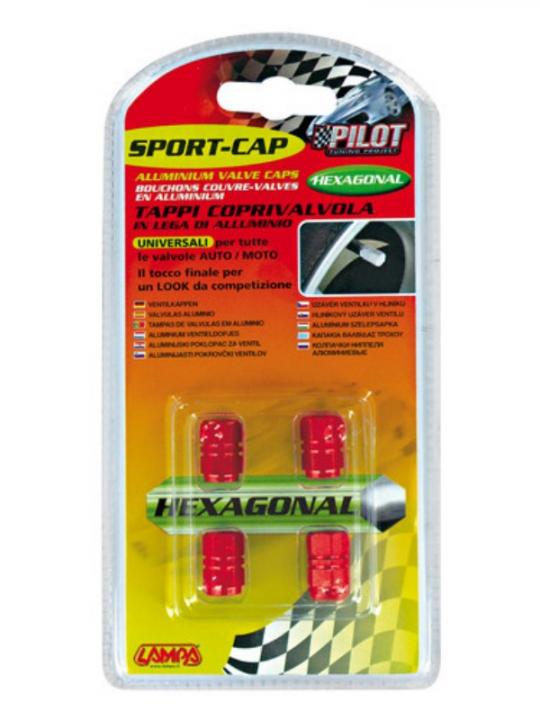Sport-Cap Exagonal Rosso
