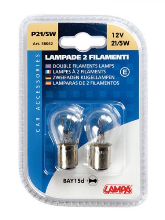 Cp.Lampade 2 Fil.21/5W Bay15D