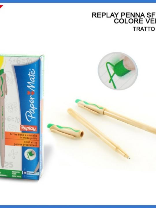 Replay Penna Cancellabile 1Mm Verde