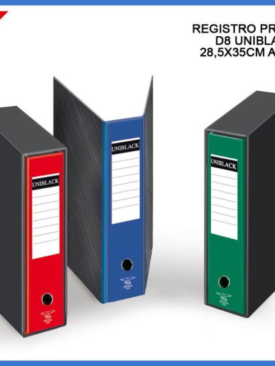 Registratore Anelli Uniblack D.8Cm 28.5X