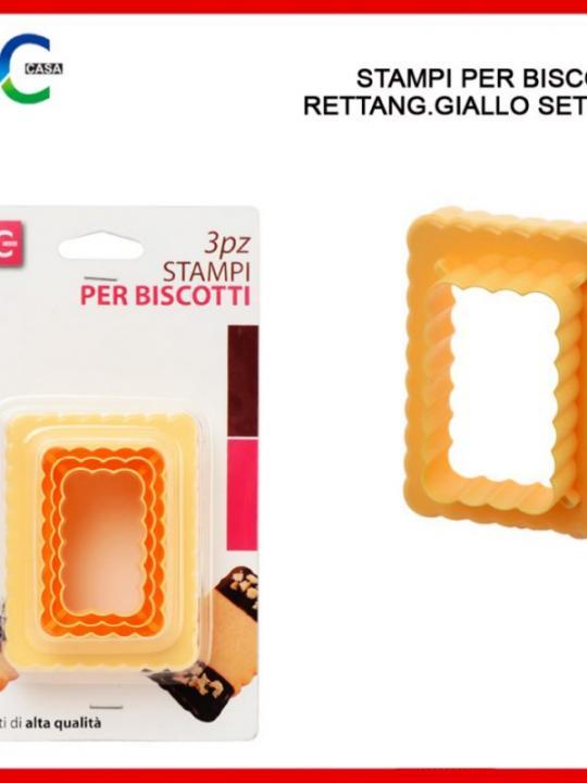 Stampi Per Biscotti Rettang.Giallo 3Pz