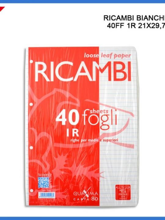 Ricambi A4 40Ff 1R 80G Bianco